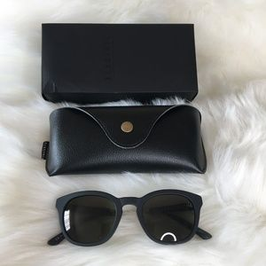 Womens Electric Oval Sunglasses Txoko Black 50mm